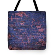 Valley Of Fire Petroglyphs Tote Bag