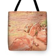 Valley Of Fire's Wash 3 Tote Bag