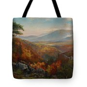 Valley Of The Catawissa In Autumn Tote Bag