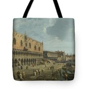 Venice   The Doges Palace And The Riva Degli Schiavoni Tote Bag