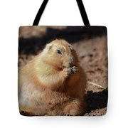 Very Large Overweight Prairie Dog Sitting In Dirt Tote Bag