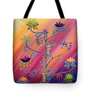 Vibrant Tree Of Life Tote Bag
