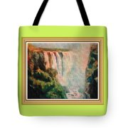 Victoria Waterfalls L B With Alt. Decorative Ornate Printed Frame. Tote Bag