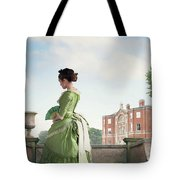 Victorian Woman In A Green Dress Tote Bag