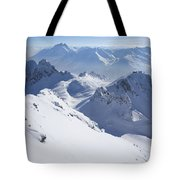 View From Summit Of Valluga, St Saint Anton Am Arlberg Austria Tote Bag