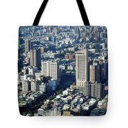 View Of A Crowded City Tote Bag
