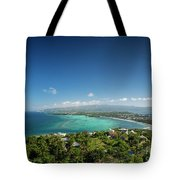 View Of Boracay Island Tropical Coastline In Philippines Tote Bag