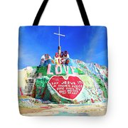 View Of Salvation Mountain Tote Bag