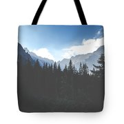 View Of Tatra Mountains From Hiking Trail. Poland. Europe.  Tote Bag