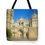 View Of Toledo Cathedral In Sunny Day, Spain. Tote Bag