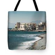 Village And Shingle Beach Of Erbalunga In Corsica Tote Bag