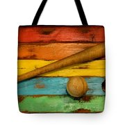 Vintage Baseball Display Tote Bag