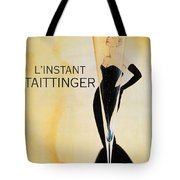 Vintage French Champagne Tote Bag