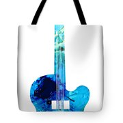 Vintage Guitar 2 - Colorful Abstract Musical Instrument Tote Bag