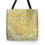 Vintage Map Of Athens Greece - 1894 Tote Bag