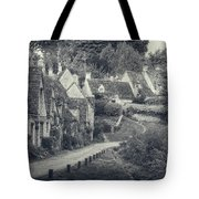 Vintage Photo Effect Medieval Arlington Row In Cotswolds Country Tote Bag