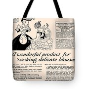 Washing Delicate Blouses Vintage Soap Ad  Tote Bag