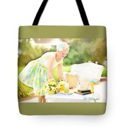 Vintage Val Iced Tea Time Tote Bag
