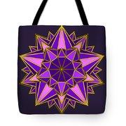 Violet Galactic Star Tote Bag
