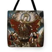 Virgin Of Carmel Saving Souls In Purgatory Tote Bag