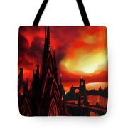 Volcano Castle Tote Bag