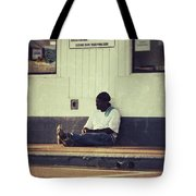 Waiting Tote Bag by Angela Wright