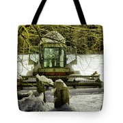 Waiting Out The Snow Tote Bag