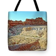 Wall Of Goblins On Carmel Canyon Trail In Goblin Valley State Park, Utah Tote Bag