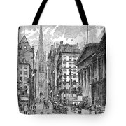 Wall Street, 1889 - To License For Professional Use Visit Granger.com Tote Bag