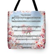 Waltz Of The Flowers Pink Roses Tote Bag