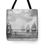 War Of 1812: Sea Battle Tote Bag