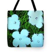 Warhol - Flowers 3 Andy Warhol Tote Bag