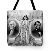 Washington And Lincoln Tote Bag