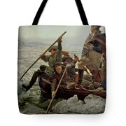 Washington Crossing The Delaware River Tote Bag by Emanuel Gottlieb Leutze
