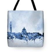 Washington Skyline-blue Tote Bag