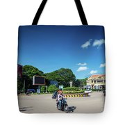 Wat Damnak Roundabout In Central Siem Reap City Cambodia Tote Bag