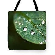Water Droplets Tote Bag
