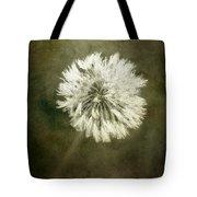 Water Drops On Dandelion Flower Tote Bag
