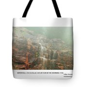 Water Fall On Cadillac Mountain Tote Bag