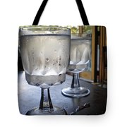 Water Glasses Sweating Tote Bag