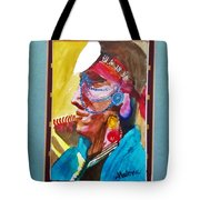 Water Healing Ceremonial Chief Yaz Tote Bag