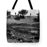 Water Hole Dead Cattle Cowboys  Drought Tohono O'odham Indian Reservation Near Sells Az 1969 Tote Bag