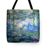 Water Lilies, Nympheas, By Claude Monet,  Musee Marmottan Monet, Tote Bag