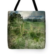 Watercolor Painting Of Beautiful Vibrant Summer Sunrise Over Eng Tote Bag