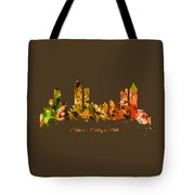 Watercolour Art Print Of The Skyline Of Atlanta Georgia Usa Tote Bag