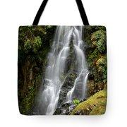 Waterfall At Azores Tote Bag