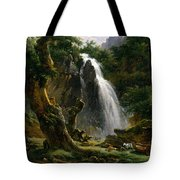Waterfall At Mont-dore Tote Bag