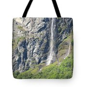 Waterfall In Geiranger Norway Tote Bag