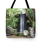 waterfall in tripcal garden Monte Madeira Tote Bag
