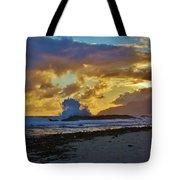 Waves At Sunrise Tote Bag